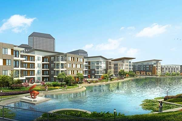 December 2016: Architect&#39s rendering of Water Street development in Las Colinas.