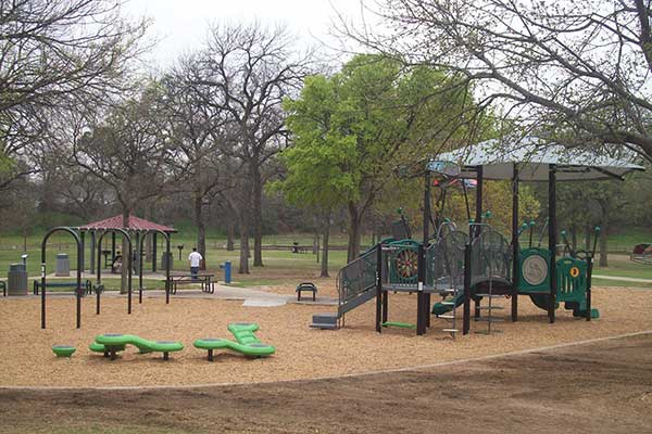 New equipment installed at Senter Park's playground - March 2017 - Irving TX