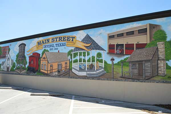 Irving, Texas, Main Street mural