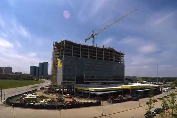 The Westin Irving Convention Center Hotel, under construction, is scheduled to open December 2018.