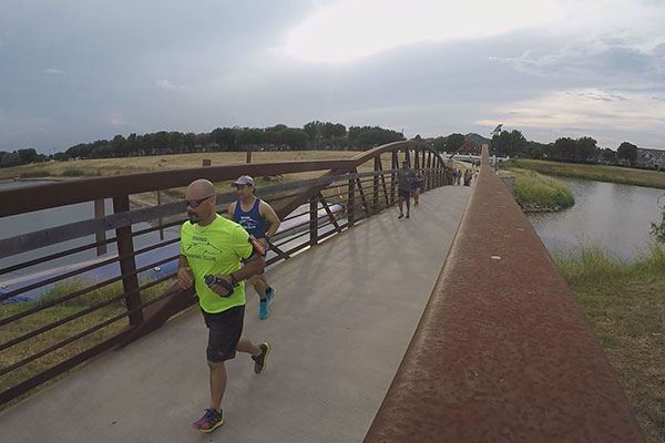 Runners along North Campion Trail in Irving, Texas.