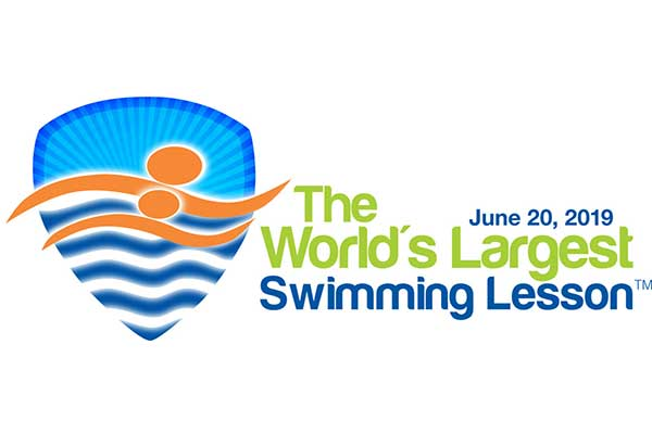 World's Largest Swimming Lesson logo