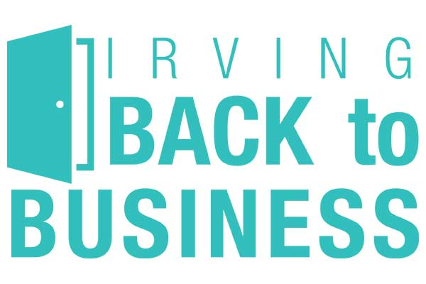 Irving Back to Business logo