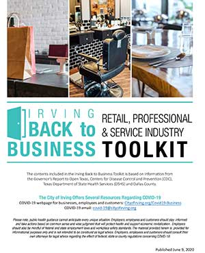 Irving Back to Business Toolkit cover Opens in new window