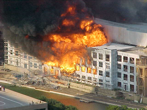 Aug. 2004 - Rendition of the Lofts fire